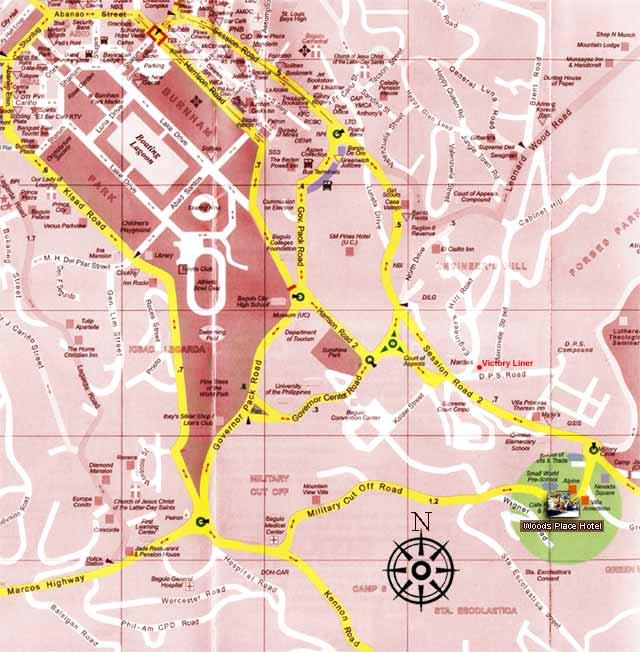Baguio City Map Images - Baguio map